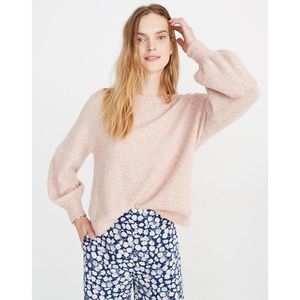 NWT Madewell Gladwell Balloon Sweater Rose S